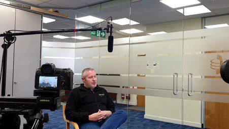 ElemenTal staff being interviewed in office environment